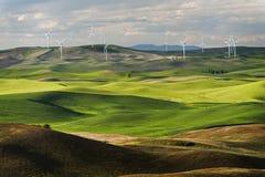 Steptoe Butte Wind Turbines Stock Image