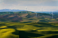 Steptoe Butte Wind Turbines Royalty Free Stock Photo