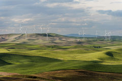 Steptoe Butte Wind Turbines Stock Image
