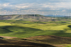 Steptoe Butte Wind Turbines Stock Photos