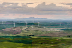 Steptoe Butte Wind Turbines Royalty Free Stock Photo