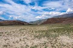 Stepu pustynny halny niebo Fotografia Stock