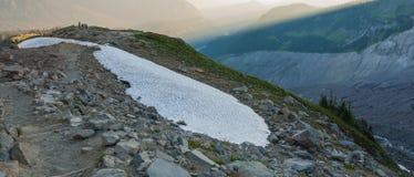 Stepway и снежный остров стоковые изображения rf