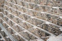 Stepwell famoso antico di Chand Baori, India Immagine Stock Libera da Diritti