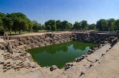 Stepwell at Sun Temple Modhera in Ahmedabad Royalty Free Stock Photos