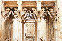 Stepwells bundi india. Enchantingly carved stepwell with delicate ornamental carvings Stock Photo