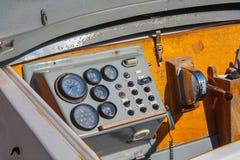 Ster łódź, rocznik nawigaci drewniany panel Obrazy Stock