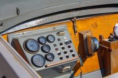Ster łódź, rocznik nawigaci drewniany panel Fotografia Stock