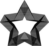 Ster Abstract geometrisch Patroon royalty-vrije stock afbeelding
