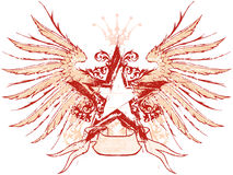 Ster & vleugels stock illustratie