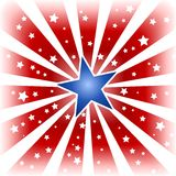Ster die in de kleuren van de V.S. is gebarsten Stock Afbeeldingen