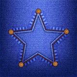 De ster van jeans Royalty-vrije Stock Afbeelding