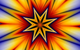 Ster en explosie (fractal30e) Stock Foto's