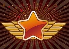 ster en vleugels Stock Fotografie