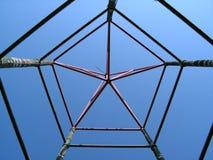 Ster gestalte gegeven structuur Stock Afbeeldingen