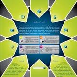 Ster gestalte gegeven websiteframe ontwerp