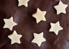 Ster gevormde chocolade Stock Foto's
