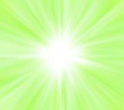 Ster met groene lichten Stock Afbeeldingen