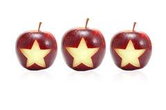 Ster op appel Royalty-vrije Stock Foto's
