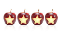 Ster op appel Royalty-vrije Stock Afbeeldingen