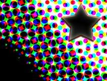 Ster op Kleurrijke Halftone Punten Stock Foto's