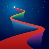 Ster op rood tapijt vector illustratie