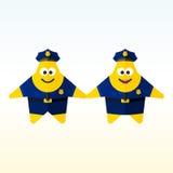 Ster professionele politie Stock Illustratie