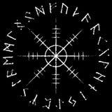 Ster respekt, ster terror, Islandzkie magiczne klepki z scandinavian runes, Aegishjalmur rocznika projekt royalty ilustracja