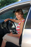 ster samochodowa kobieta Zdjęcia Royalty Free