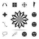 ster twaalf pictogram Gedetailleerde reeks Webpictogrammen en tekens Premie grafisch ontwerp Één van de inzamelingspictogrammen v royalty-vrije illustratie