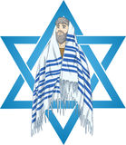 Ster van David Rabbi With Talit Stock Foto