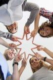 Ster van vingers en handen Stock Fotografie