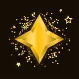 Ster Vector realistische metaal gouden geïsoleerde gele 3D vector illustratie