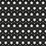 Ster zwart-wit naadloze textuur stock illustratie