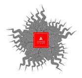 Ster Zwart-wit ontwerp met optische illusie 3d vectorillustratie vector illustratie