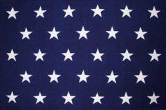 Sterachtergrond op een Amerikaanse vlag Royalty-vrije Stock Afbeelding
