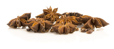 Steranijsplant. droge zaden van anisum L. van installatiepimpinella. Stock Afbeeldingen