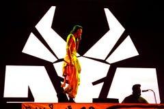 Sterben Antwoord-Pochen-Partyband im Konzert am Sonar-Festival Lizenzfreie Stockfotos