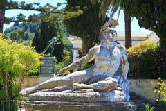 Sterbender Achilleus, Achilleions-Palast - Korfu Lizenzfreies Stockfoto