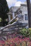 Sterbender Achilleus auf der Terrasse am Achilleions-Palast auf der Insel von Korfu Griechenland errichtet von der Kaiserin Eliza Lizenzfreie Stockfotos