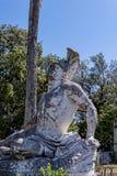 Sterbender Achilleus auf der Terrasse am Achilleions-Palast auf der Insel von Korfu Griechenland errichtet von der Kaiserin Eliza Lizenzfreie Stockbilder
