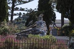 Sterbender Achilleus auf der Terrasse am Achilleions-Palast auf der Insel von Korfu Griechenland errichtet von der Kaiserin Eliza Stockfotos