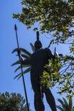 Sterbender Achilleus auf der Terrasse am Achilleions-Palast auf der Insel von Korfu Griechenland errichtet von der Kaiserin Eliza Lizenzfreies Stockfoto