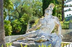 Sterbender Achilleus im achilleion Korfu Stockfoto