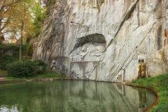 Sterbender Lion Wall Monument, Luzerne die Schweiz Stockfotos