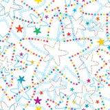 Sterbloem velen kleurrijk ster naadloos patroon stock illustratie