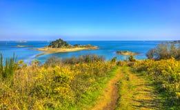 Sterec ö - Brittany, Frankrike Arkivfoton