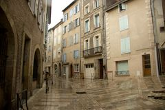 The stereet of Foix, France Royalty Free Stock Photography