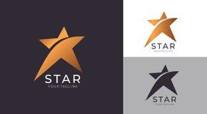 Sterembleem Universeel abstract embleem met een stersymbool voor om het even welke zaken Sterteken - een leider, een succes en ee vector illustratie