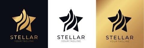 Sterembleem Universeel abstract embleem met een stersymbool voor om het even welke zaken Sterteken - een leider, een succes en ee royalty-vrije illustratie